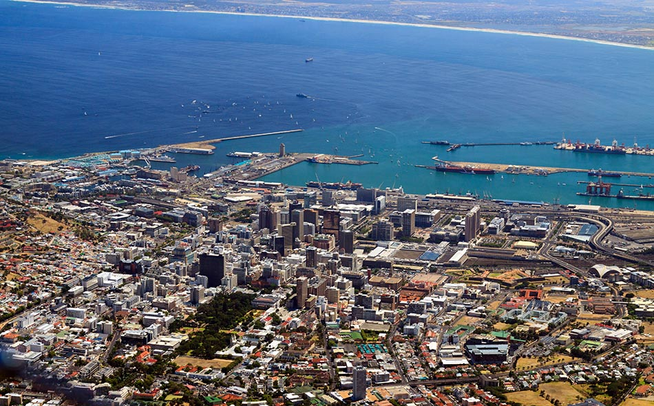 Kaapstad-vanaf-Tafelberg, 15 januari 2011