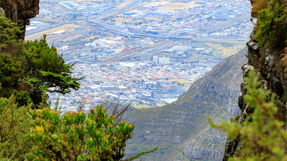 Uitzicht vanaf  de Tafelberg | Tafelberg, Kaapstad, Zuid-Afrika, 3 december 2018