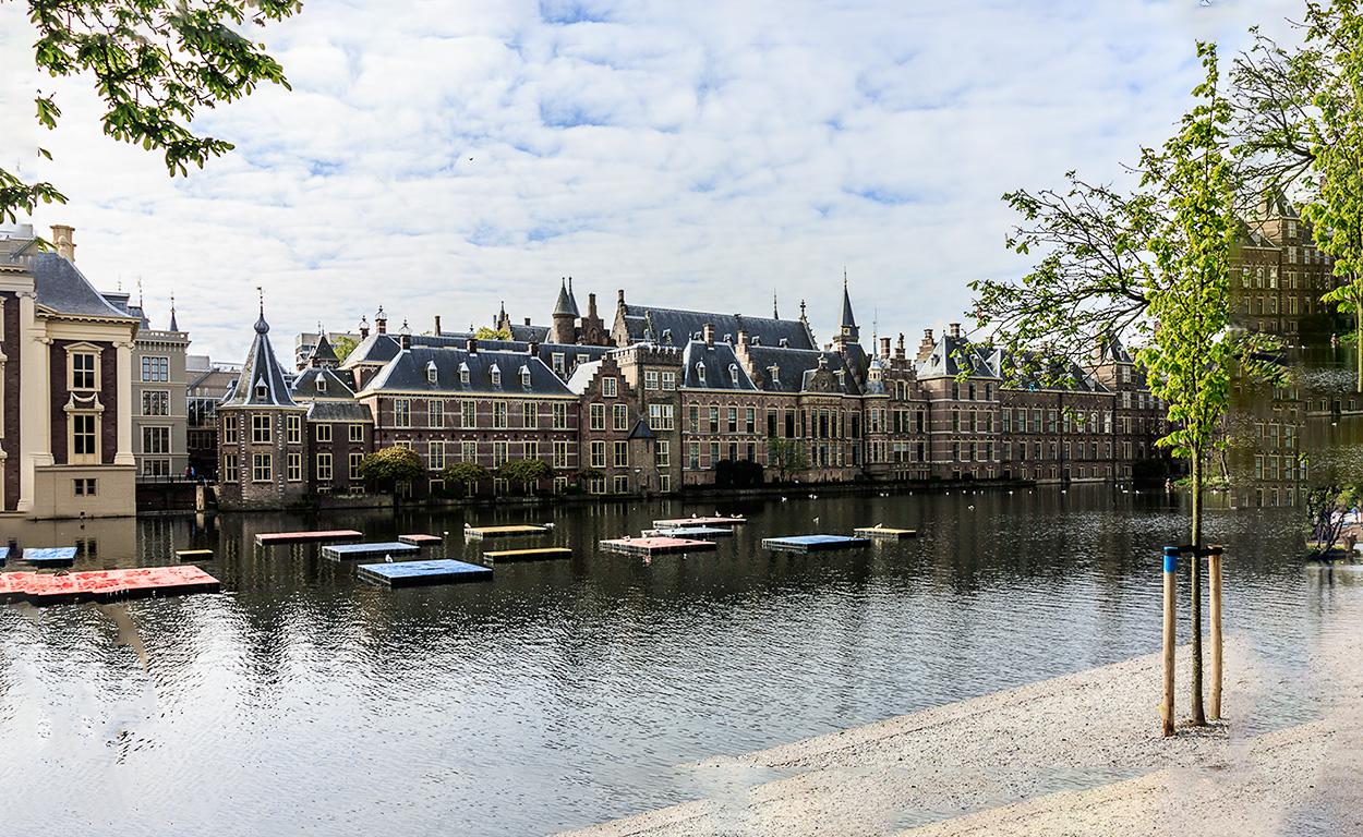 De Hofvijver met het Binnenhof | Den Haag, 29 april 2017