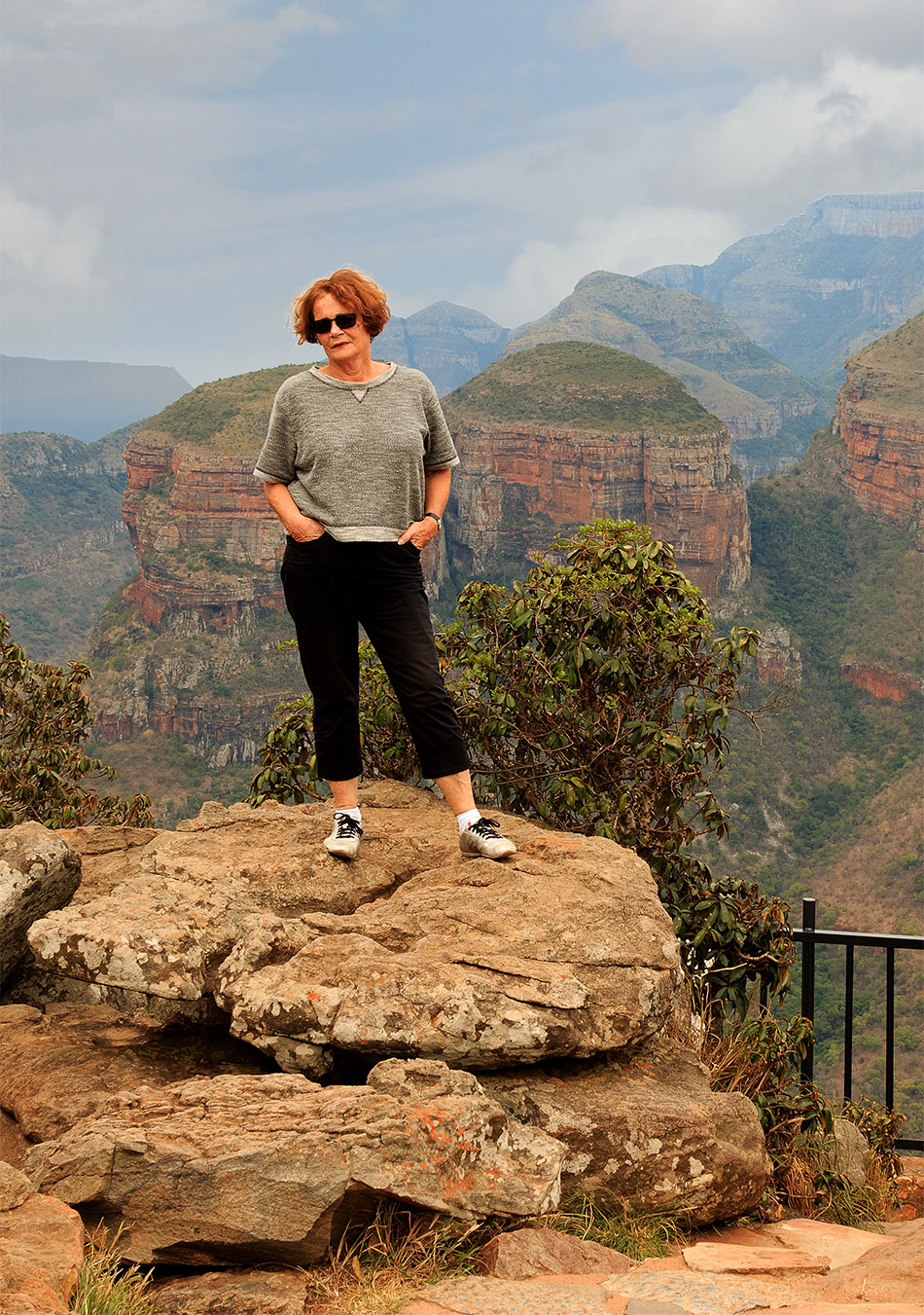 Even poseren bij de Drie Rondavels | Graskop, Blyde River Canyon – 15 november 2014