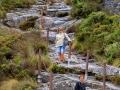 Sonja tijdens klim | Tafelberg, Kaapstad, Zuid-Afrika, 3 december 2018
