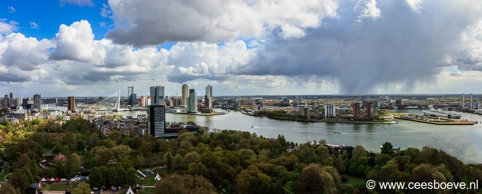 Rotterdam vanaf Euromast, 26 april 2017