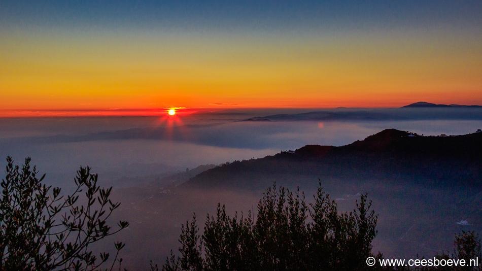 Zonsondergang | Algarrobo Costa, 8 januari 2020