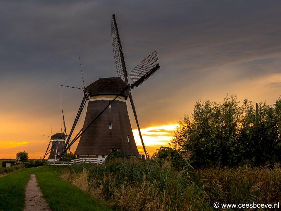 Zonsondergang molenviergang | Zevenhuizen, 9 september 2021