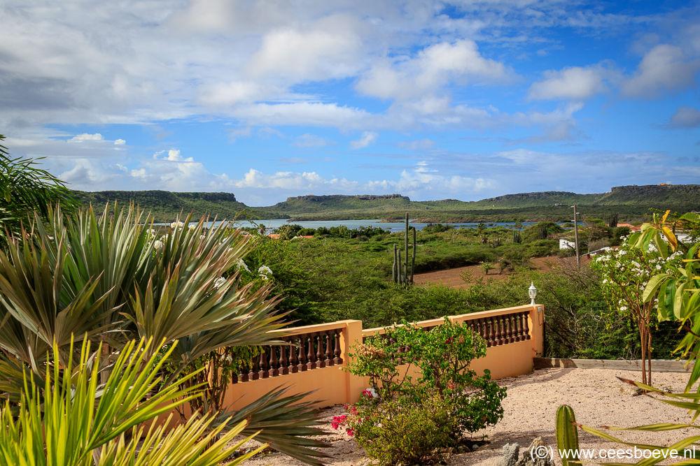 Uitzicht Jan Kok Lodges, Curacau, 9 december 2017
