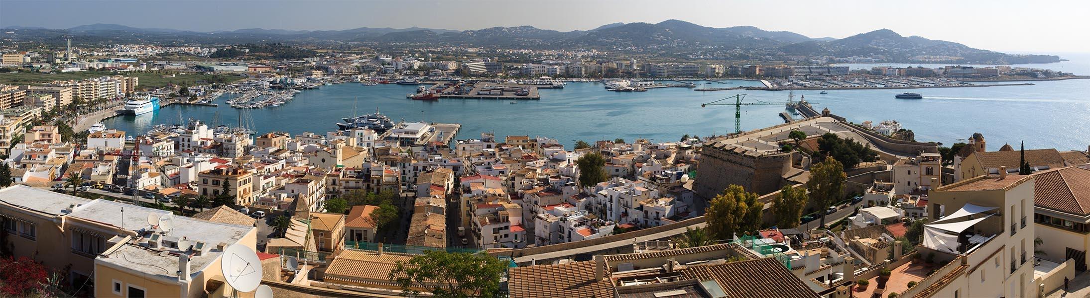 Ibiza stad  panorama