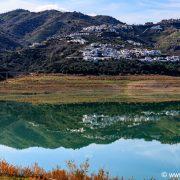 Het stuwmeer van La Viñuela.
